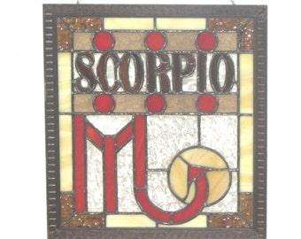 Stained Glass Scorpio Panel