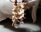 bone earrings. rattlesnake vertebrae earrings.bones.