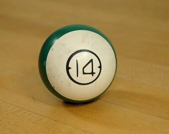 Antique Brunswick Ivorylene Dart Billiard Ball Pool Ball 14 Green Stripe