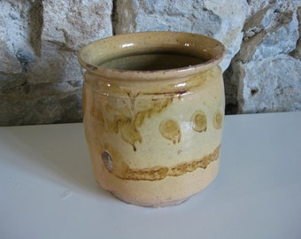 French confit pot -  unusual glazed terracotta pot for confit de canard