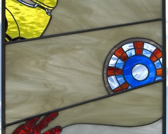 Iron Man Stained Glass Panel