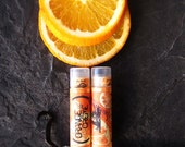 Organic Lip Balm - Orange Cream - Raw Orange and Vanilla Bean Balm