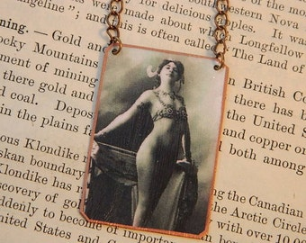Mati Hari necklace mixed media jewelry