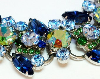 Juliana D&E Blue Green AB Rhinestone Bracelet