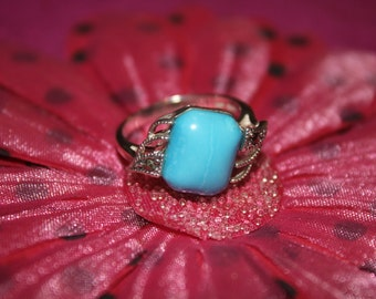 Turquoise Sterling Silver Gemstone Ring Size 7 *PRICE REDUCED*