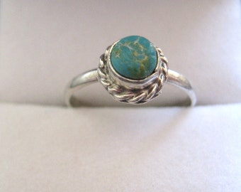 Sky Genuine Turquoise and Sterling Silver Ring