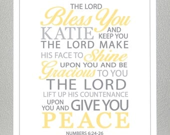 Baptism gift - Numbers 6:24-26  - Print
