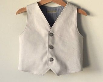 Baby boy vest ring bearer outfit beach wedding vest photo prop