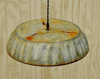 Hanging Industrial Pendant Light - Large Feed Pan Hanging Light