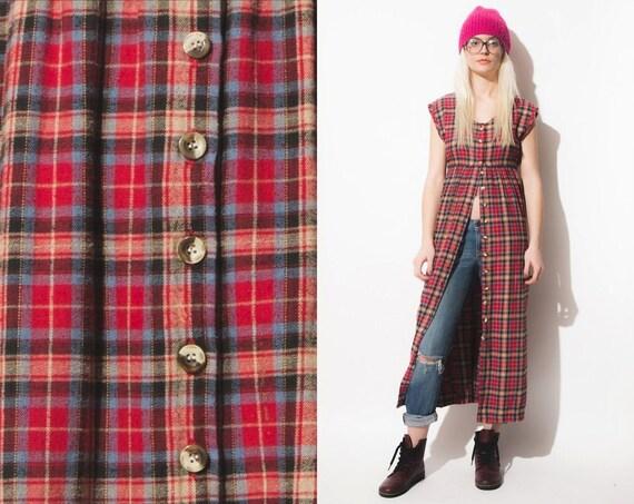 Plaid Button Down Shirt Dress images