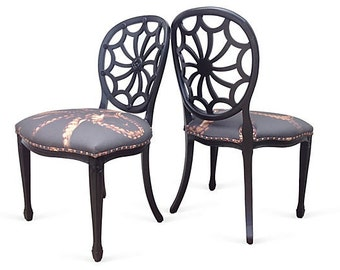 Vintage Spider Back Side Accent Dining Chairs Custom