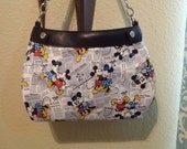 mickey and Minnie love story gazette handmade suite purse cover thirty one