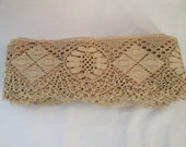Reserved Reserved Vintage Lace Fabric Trim Antique Lace Antique White 9 yards