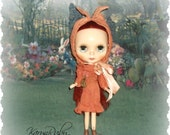 Blythe ~Aged Silk Dress & Puritan Cotton Bonnet ~ Vintage Inspired  by KarynRuby