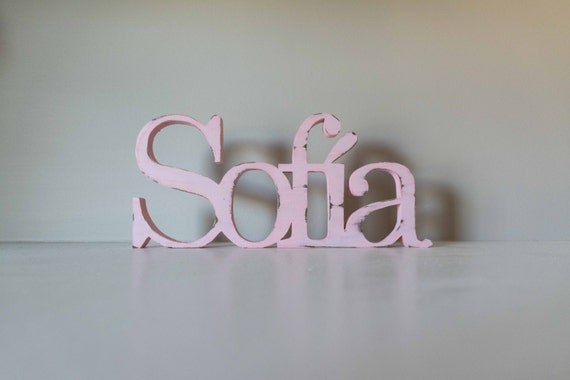 Wooden Name Sign, Baby Name, Display