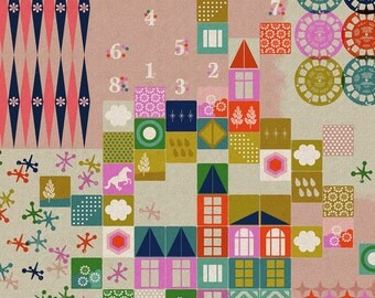 Playroom in Pink - Cotton/Linen Canvas - Playful - Melody Miller - Cotton + Steel - 1 Yard