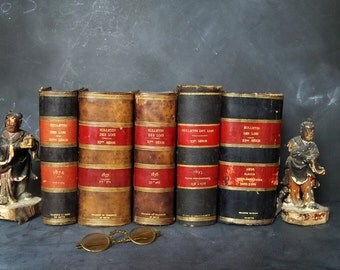 Antique French Decorative Books .1800s .Antique book set..Books collection ..Old books