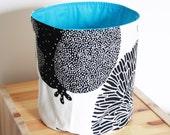 Fabric basket ,Blue lining ,Storage Basket , Eco friendly ,Cotton ,Organizer Bin Basket ,Home Organization