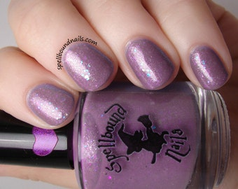 Wildflower Meadow - custom purple shimmer nail polish iridescent glitter