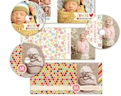 INSTANT DOWNLOAD - 6 Cd/Dvd Label and cover templates - Bright Cd Labels and Covers -  E317