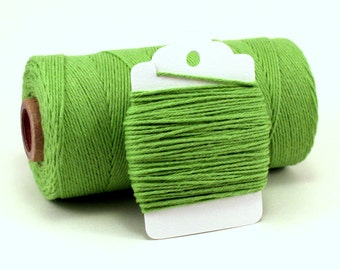 Solid Green Baker's Twine . Green Divine Twine . Bright Green Twine . Spring Green String . Green Gift Wrap . Choose Any Number of Yards