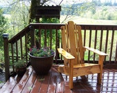 Cedar Adirondack Chair - Varnished - Patio Chair- Wood Furniture - Seating