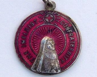 The Methodist Confraternity Medallion Antique Pendant Religious Medallion Vintage Religion Vintage Worship Vintage Church