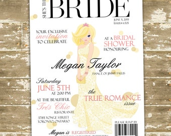 DIY Bridal Shower Invitation / Print-at-home / High Fashion Invitation / Breakfast at Tiffany's / Bridal Shower / The Devil Wears Prada