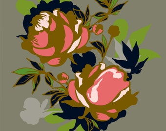 Peony Flower Print 11 x 14 inches
