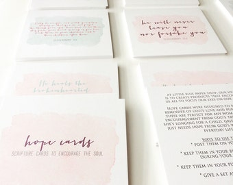 Hope Cards - scripture cards to encourage the soul