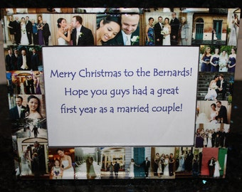 """Personalized Christmas Gift, Christmas Frame, Custom Collage Picture Frame 5"""" x 7"""""""