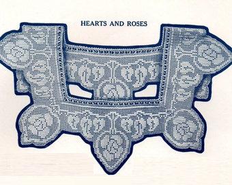 1920s Crochet Knit Sewing Pattern Lace Yoke Collar Instruction DIY Booklet Clark's Designs Frances Harris