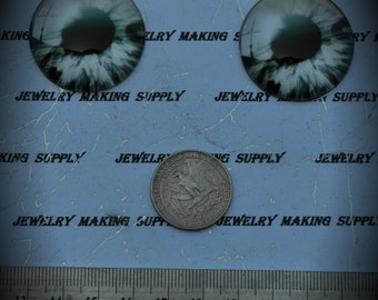 Large 35mm Iris Cat Eye Glass Cabochon Y309