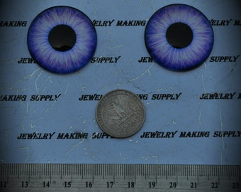 Large 35mm Iris Cat Eye Glass Cabochon Y314