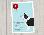 Dog Birthday Invitation - Children's Birthday Invite