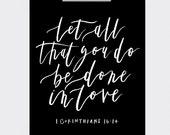 8 x 10   1 Corinthians 16:14