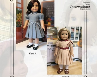 """PDF Pattern KDD14 """"Bodice Details"""" -An Original KeepersDollyDuds Design,18"""" doll Clothes Fits American Girl"""