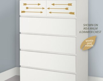 Dresser Makeover - Arrow Dresser Decals - Choose from 35 Colors - Perfect for a Pinterest Dresser Makeover or Ikea Hack