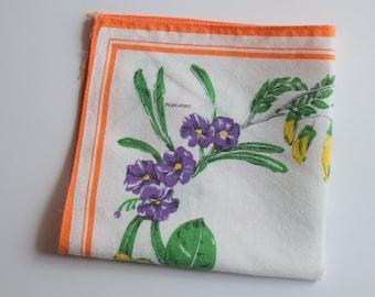 New Zealand Wildflowers vinatage Souvenir Handkerchief