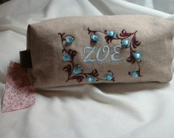 Medium size box cosmetics bag