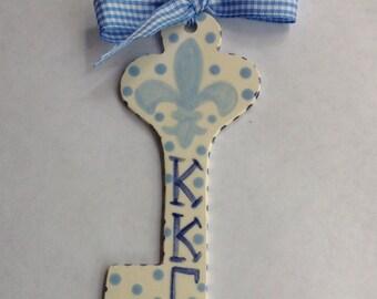 Kappa Kappa Gamma Key Ornament