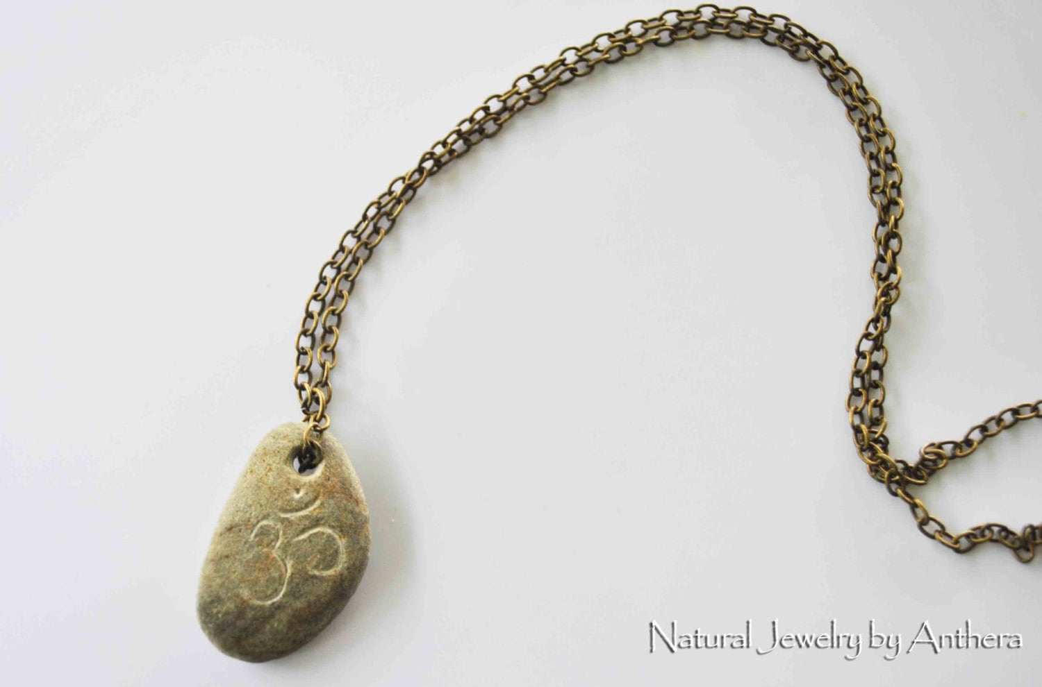River stone natural jewelry unique necklace by antheradesign for Unique stones for jewelry making
