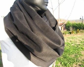 Solid red burgundy brown BLACK cashmere, wool infinity scarf men's, women's-Turkey-2014 trends-winter FASHION