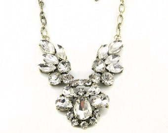 Crystal warrior gold statement necklace