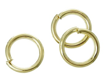 100pcs 6mm Light Gold Plated Jump Ring - 18 Gauge - Jewelry Finding, Jewelry Making Supplies, Lead Nickle Free, DIY, Ships from USA  - JR109