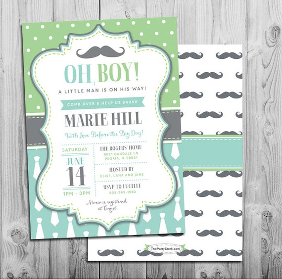 Little man baby shower invitation mustache bash theme printable il570xn filmwisefo
