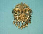 Flamboyant Gold Tone Vendome Vintage Brooch or Pin, Dangles, Classic, Elegant, Just Reduced