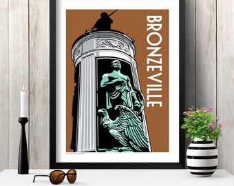 BRONZEVILLE Chicago Neighborhood Poster