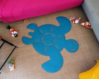 Tapis de tortue se sentait pour la pépinière de bébé ou chambre d'enfant - tapis Animal avec des couleurs personnalisées (livraison gratuite)