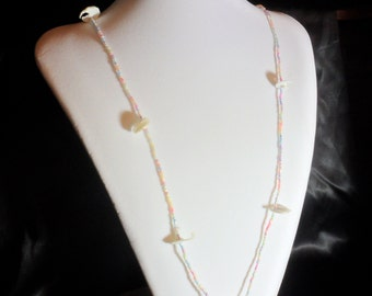Pastel Seed Bead Necklace